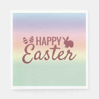 Pastel Sunrise Happy Easter Paper Napkins