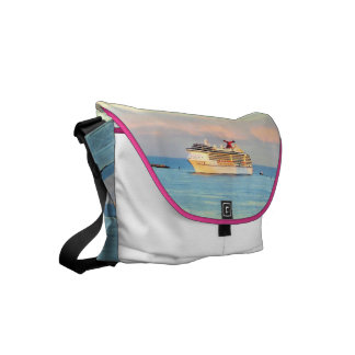 Pastel Sunrise with Cruise Ship Commuter Bags