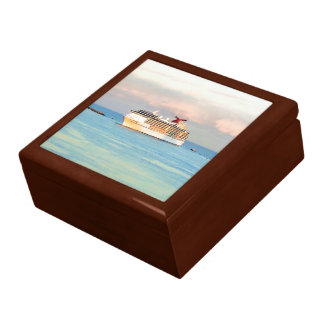 Pastel Sunrise with Cruise Ship Gift Box