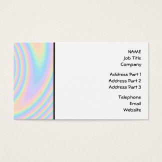 Pastel Swirl Twist Design. Business Card