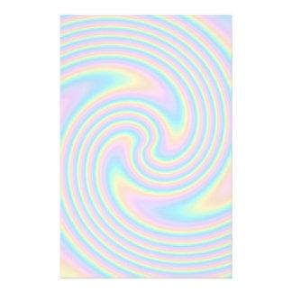 Pastel Swirl Twist Design. Stationery