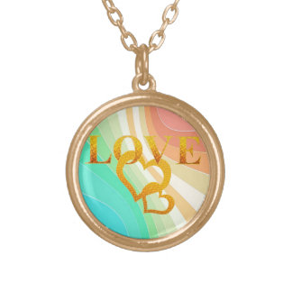Pastel Swirls Gold Plated Necklace