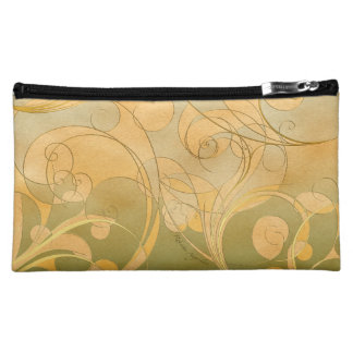 Pastel swirls makeup bag
