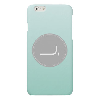 Pastel Teal Alphabet. J. iPhone 6 Plus Case