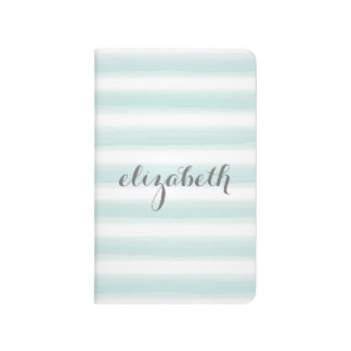 Pastel Teal and Gray Stationery Suite for Women Journal