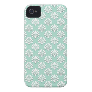 Pastel Teal Green and White Pattern Blackberry Cases