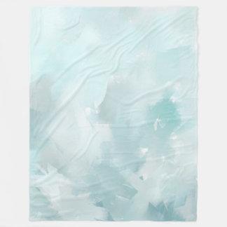 Pastel Teals Fleece Blanket