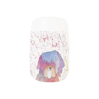 Pastel the Rainbow Pup Minx Nail Art