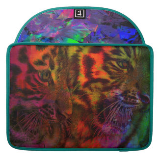 Pastel Tiger Cubs Sleeve For MacBooks
