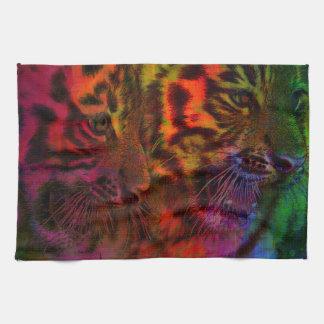 Pastel Tiger Cubs Tea Towel