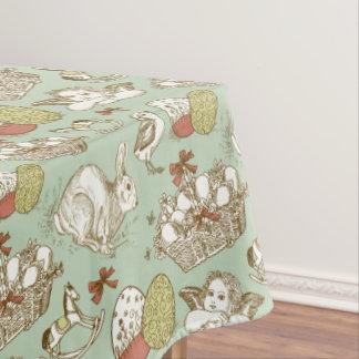 Pastel Tones Easter Design Tablecloth