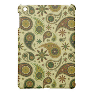 Pastel Tones Retro Paisley And Flowers Pern iPad Mini Case