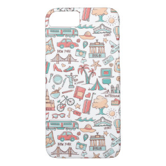 Pastel Tourist Pattern iPhone 8/7 Case