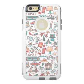 Pastel Tourist Pattern OtterBox iPhone 6/6s Plus Case