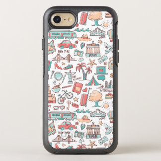 Pastel Tourist Pattern OtterBox Symmetry iPhone 8/7 Case