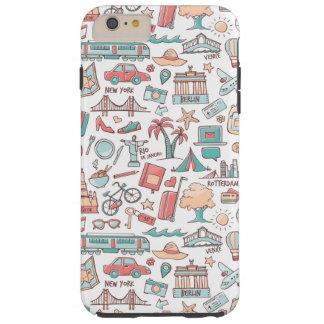 Pastel Tourist Pattern Tough iPhone 6 Plus Case