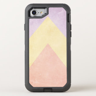 Pastel triangle pattern OtterBox defender iPhone 8/7 case