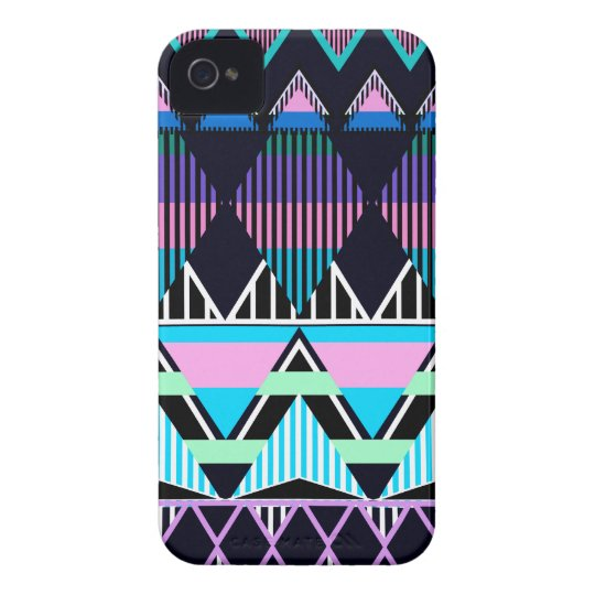 Pastel Tribal inspired iPhone 4 Case-Mate Case
