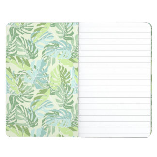 Pastel Tropical Palm Leaves Journals
