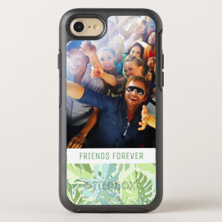 Pastel Tropical Palms | Add Your Photo & Text OtterBox Symmetry iPhone 8/7 Case
