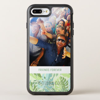 Pastel Tropical Palms | Add Your Photo & Text OtterBox Symmetry iPhone 8 Plus/7 Plus Case