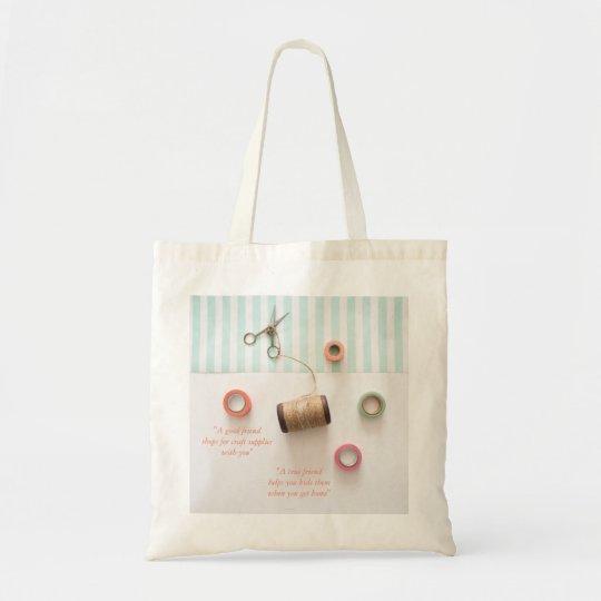 Pastel True Friend Craft Theme Tote Bag