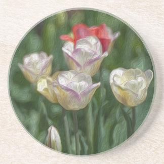 Pastel Tulips Coaster