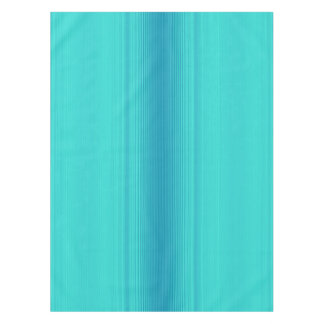 Pastel Turquoise Blue Green Striped Pattern Tablecloth