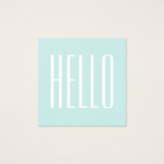 Pastel turquoise / blue minimalist business card