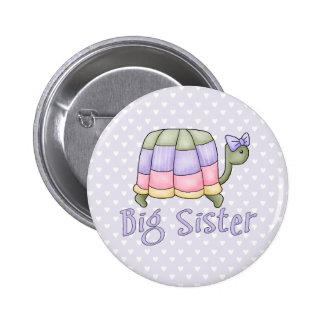 Pastel Turtle Big Sister 6 Cm Round Badge