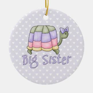 Pastel Turtle Big Sister Christmas Ornament