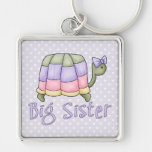 Pastel Turtle Big Sister Keychains
