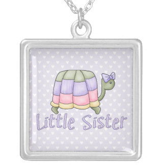 Pastel Turtle Little Sister Silver Plated Necklace
