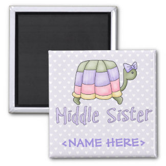 Pastel Turtle Middle Sister Magnets
