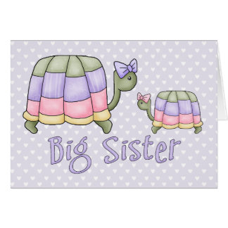 Pastel Turtles Big Sister Card