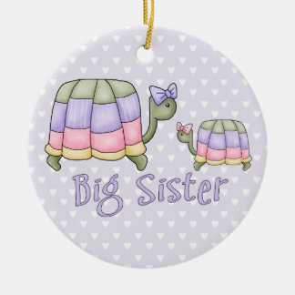 Pastel Turtles Big Sister Christmas Ornament