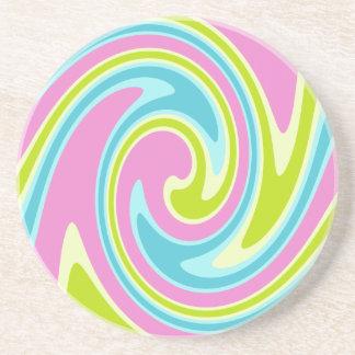 Pastel Twirl coaster