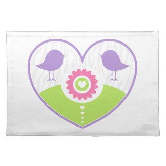 Pastel Valentine Heart Placemat
