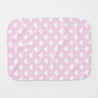 Pastel Valentine Hearts Burp Cloth