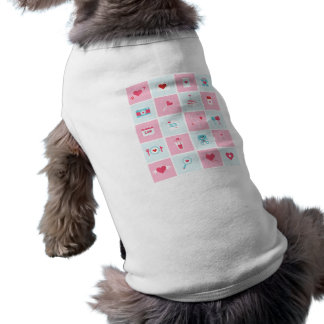 pastel valentines day sleeveless dog shirt