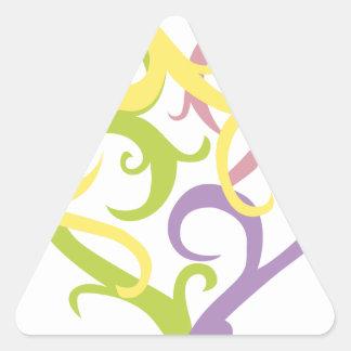 pastel vine tattoo heart triangle sticker