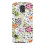 Pastel vintage abstract spring flowers