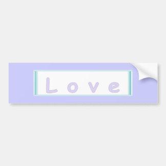 Pastel Vintage Love Banner Bumper Stickers