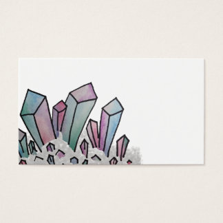 Pastel Watercolor Crystal Cluster Business Card