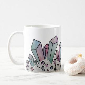 Pastel Watercolor Crystal Cluster Coffee Mug