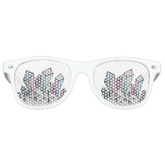 Pastel Watercolor Crystal Cluster Sunglasses