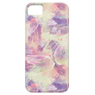 Pastel Watercolor Dragonflies Lavender Pink White iPhone 5 Covers