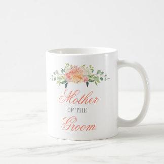 Pastel Watercolor Flowers Mother of the Groom Coffee Mug