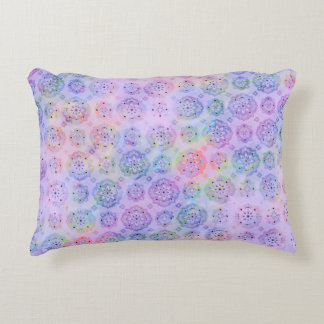 Pastel Watercolor Pattern Accent Pillow Gift Idea