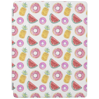 Pastel Watercolor Pool Float Pattern iPad Cover